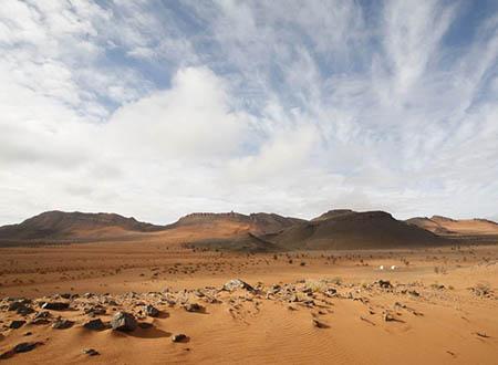 Le Zireg, désert des nomades Ait Kebbach