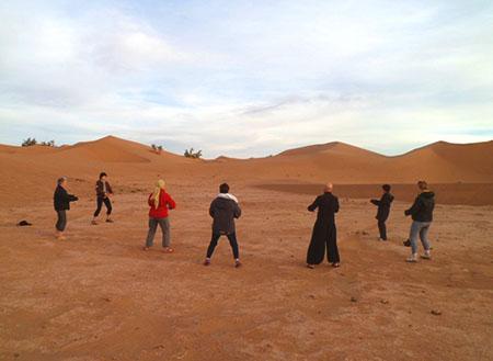 Qi Gong désert marocain