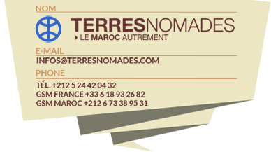 Terres Nomades votre agence spécialisée dans le voyage au Maroc